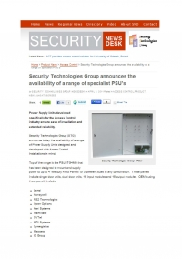 PSU Announcement in Security News Desk