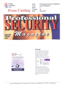 New Web Site announcement in Professional Security