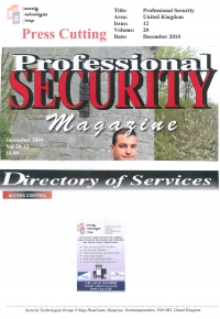 Professional Security Directory of Services Issue12 Volume20